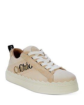 Chloé - Women's Lauren Logo Low Top Platform Sneakers