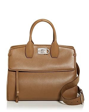 Salvatore Ferragamo Studio Bag Leather Satchel