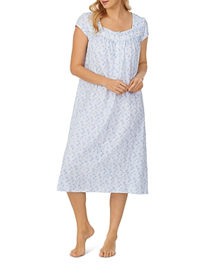 Cotton Short Sleeve Printed Nightgown