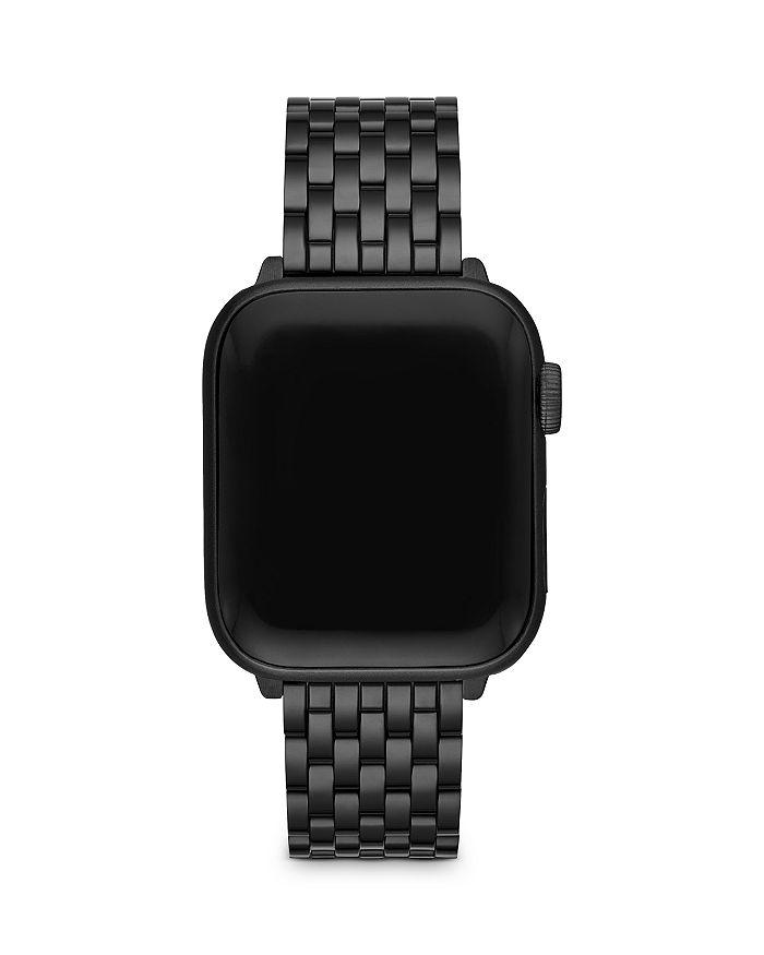 Michele APPLE WATCH BLACK ION PLATED STAINLESS STEEL INTERCHANGEABLE BRACELET, 38-42MM