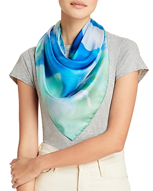 Blooming Floral Silk Square Scarf