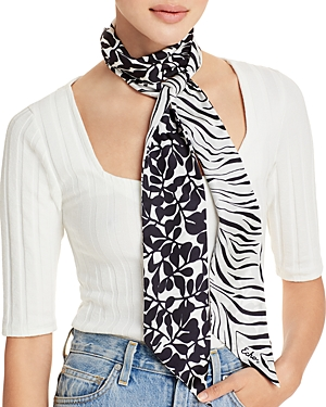 Zebra Vines Silk Scarf