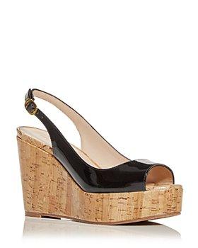 Stuart Weitzman - Women's Riviera Slingback Wedge Platform Sandals