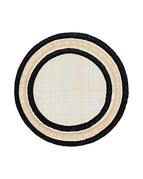 Joanna Buchanan - Fringed Two-Tone Straw Placemat