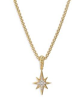 David Yurman - 18K Yellow Gold North Star Amulet with Diamonds