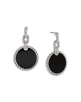David Yurman - Sterling Silver DY Elements® Black Onyx & Diamond Drop Earrings