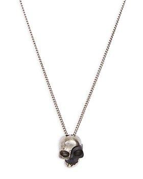 """Alexander McQUEEN - Divided Skull Pendant Necklace, 13.5"""""""