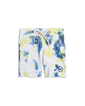 SOL ANGELES - Boys' Citron Marble Tie Dye Sweats Shorts - Little Kid, Big Kid