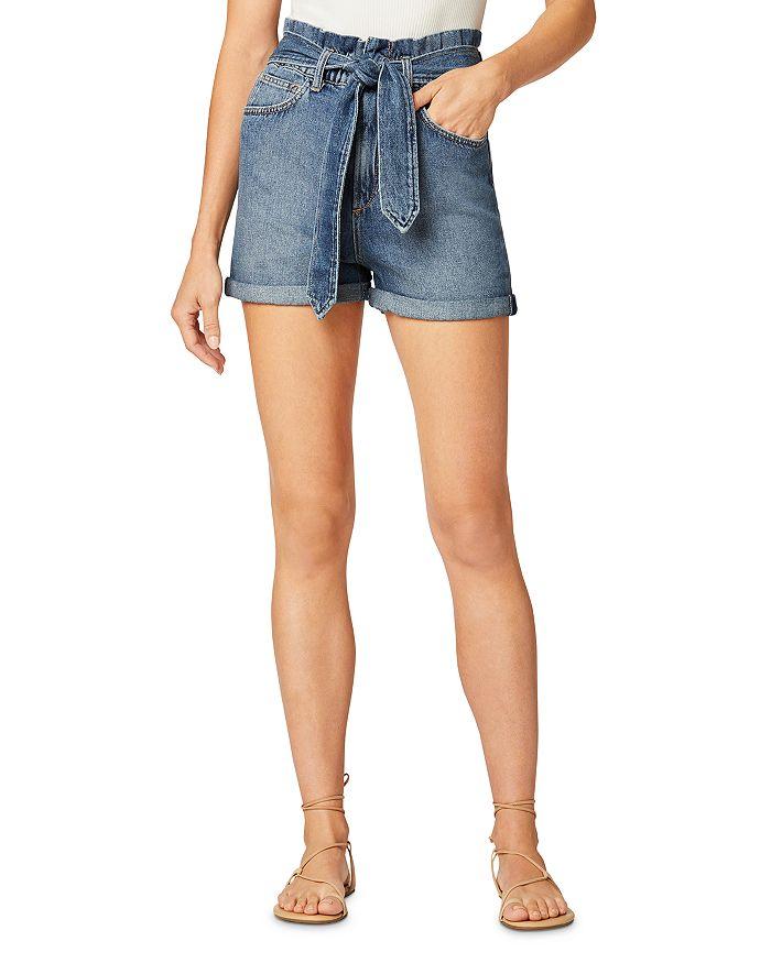 Joe's Jeans Denims THE BRINKLEY BELTED DENIM SHORTS IN ALONE TOGETHER