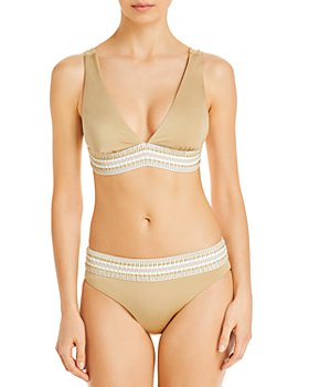 Peixoto - Charlie Crochet Trim Bikini Top & Zoni Crochet Trim Bikini Bottom