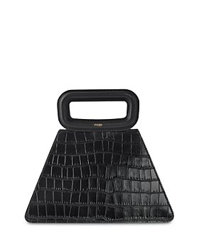 Maje - A Embossed Leather Pyramid Bag