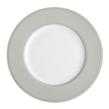 Monique Lhuillier Waterford - DENTELLE ACCENT PLATE GRAY 9""