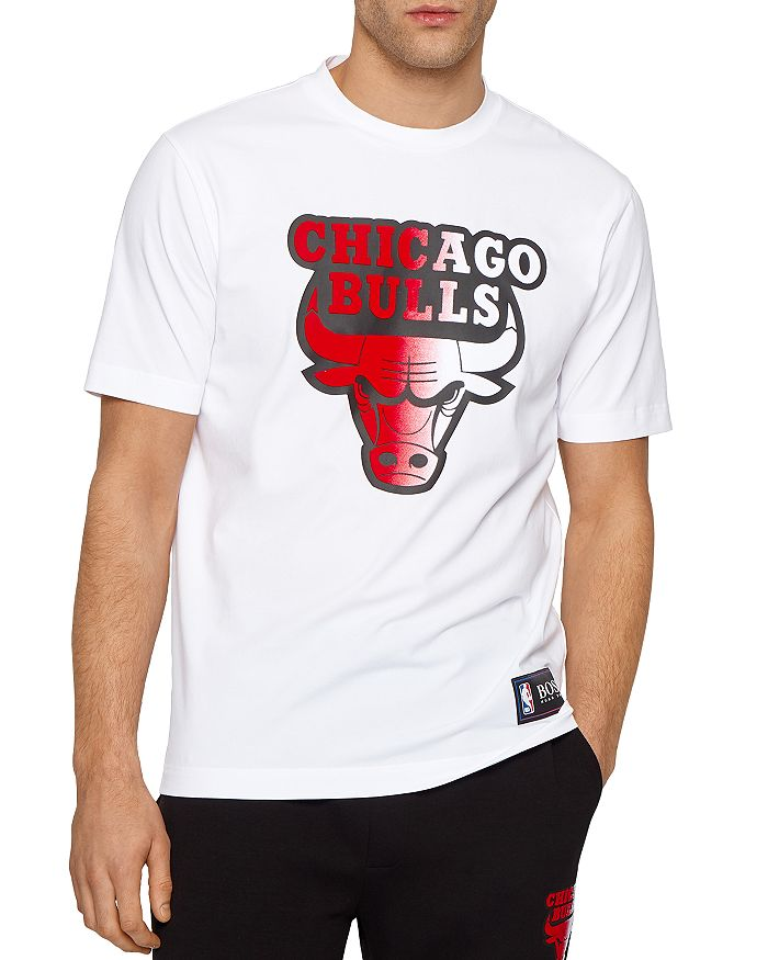 Hugo Boss X NBA THREESIXTY CHICAGO BULLS COTTON STRETCH GRAPHIC TEE
