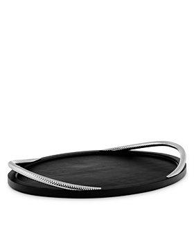 Nambé - Braid Noir Serving Tray - 100% Exclusive