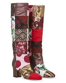 "Dolce & Gabbana - Women's Patchwork 2.4"" Heel Leather Boots"