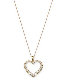 Bloomingdale's - Diamond Heart Pendant Necklace in 14K Yellow Gold, 0.5 ct. t.w. - 100% Exclusive