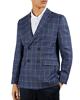 Ted Baker - Windowpane Check Regular Fit Double Breasted Blazer