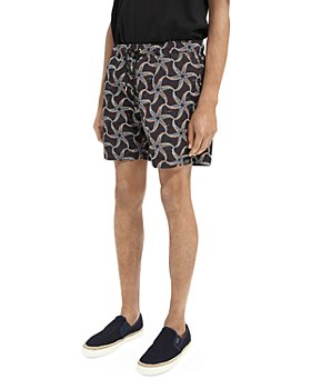 Scotch & Soda - Medium Length Printed Swim Shorts