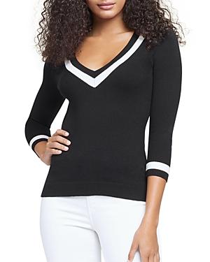 L Agence L'AGENCE AXELLE V NECK SWEATER