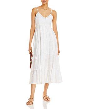 AQUA - V Neck Tiered Dress - 100% Exclusive