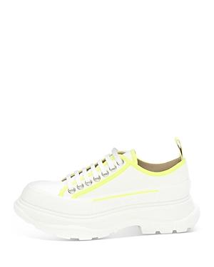 Alexander McQUEEN Women's Tread Slick Neon Low Top Platform Sneakers
