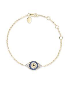 Meira T Diamond, Sapphire and 14K Yellow Gold Evil Eye Bracelet - Bloomingdale's_0