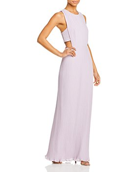 BCBGMAXAZRIA - Raven Pleated Cutout Gown - 100% Exclusive