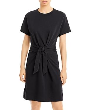 Short Sleeve Tie Waist Dress