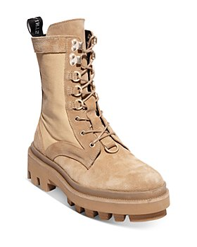 ALLSAINTS - Women's Beth Mixed Media Lace Up Boots