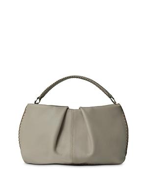 Callista Iconic Maxi Pleated Leather Clutch