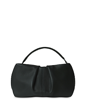 Iconic Maxi Pleated Leather Clutch