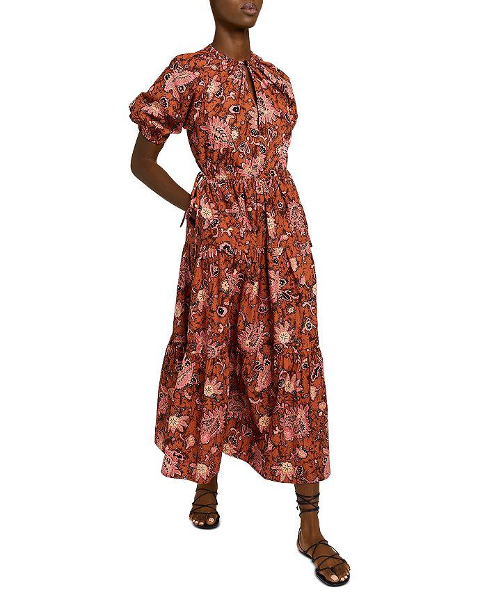 A.L.C Cottons MISCHA COTTON PRINTED MIDI DRESS