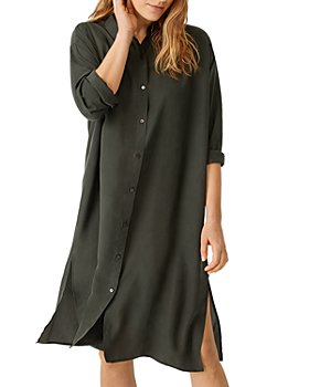 Eileen Fisher - Classic Matte Silk Shirtdress