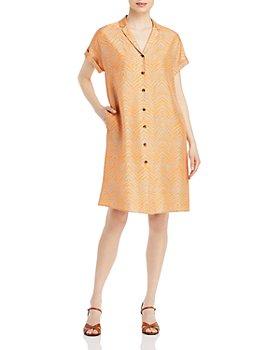 Lafayette 148 New York - Sawyer Tiger Striped Silk Shirtdress