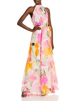 Eliza J - Floral Halter Gown