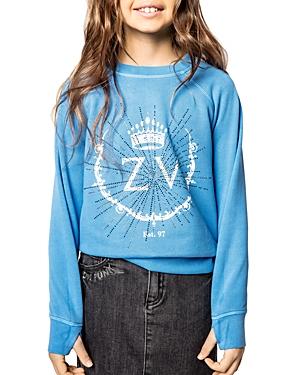 Zadig & Voltaire Shirts GIRLS' FAME SWEATSHIRT - LITTLE KID, BIG KID