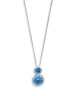 Bloomingdale's Blue Topaz & Diamond Pendant Necklace in 14K White Gold, 18 - 100% Exclusive