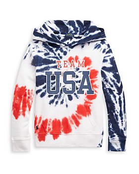 Ralph Lauren - Girls' Tie Dyed Team USA Hoodie - Little Kid, Big Kid