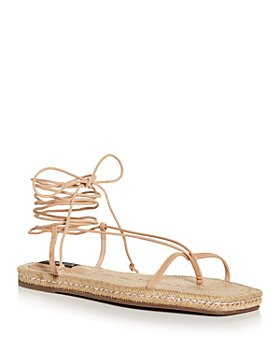 AQUA - Women's Ankle Tie Thong Espadrille Sandals