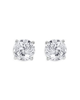 UNIQUE DESIGNS - Diamond Solitaire Stud Earrings in 14K White Gold, 2.00 ct. t.w. (65% off) - Comparable value $10,090