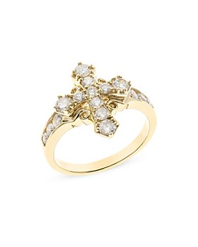 Bloomingdale's - Diamond Cross Ring in 14K Yellow Gold, 1.0 ct. t.w. - 100% Exclusive