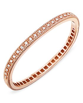 Roberto Coin - 18K Rose Gold Byzantine Barocco Diamond Bangle Bracelet