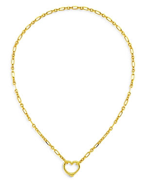 18K Gold-Plated Dare Open Heart Pendant Necklace