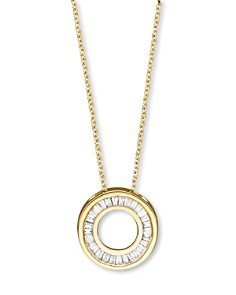 Bloomingdale's - Diamond Gold Circle Pendant Necklace in 14K Yellow, 0.20 ct. t.w.- 100% Exclusive