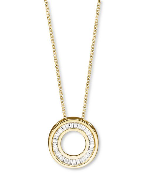 Bloomingdale's - Diamond Gold Circle Pendant Necklace in 14K Yellow, 0.20 ct. t.w. - 100% Exclusive