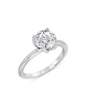 Bloomingdale's CERTIFIED DIAMOND STARBLOOM ENGAGEMENT RING IN 14K WHITE GOLD, 0.50 CT. T.W. - 100% EXCLUSIVE