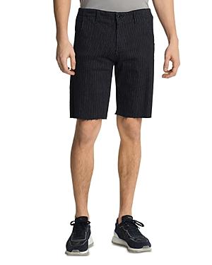 Karl Lagerfeld Paris Raw Hem Regular Fit Pinstriped Shorts