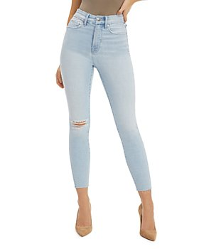 Good American - Good Waist Skinny Cropped Jeans in Blue679