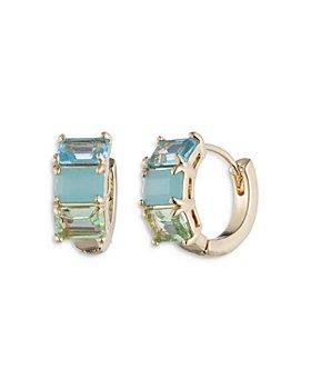 Ralph Lauren - Multi Stone Huggie Hoop Earrings
