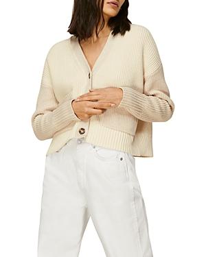 Whistles Cropped V Neck Sweater